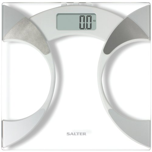Image of Taylor 5741f Body Fat and Body Water Scale Measures Glass, 350-Pounds (57414192F)