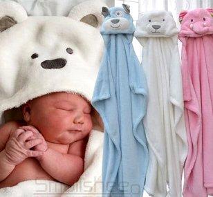 Baby Hooded Bathrobe Towel Blanket, Animal Hood front-408122
