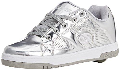 Heelys Split Chrome Skate Shoe (Toddler/Little Kid/Big Kid), Silver, 5 M US Big Kid (Wheelies Shoes compare prices)