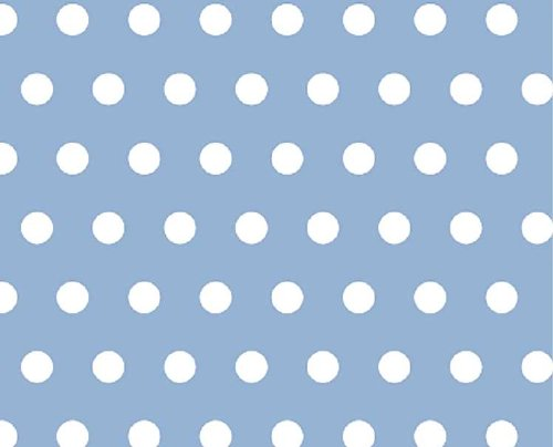 SheetWorld Extra Deep Fitted Portable / Mini Crib Sheet - Polka Dots Blue - Made In USA простынь swaddledesigns fitted crib sheet turquoise stripe
