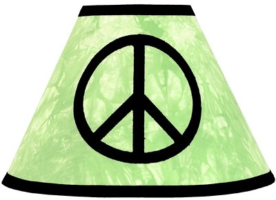 Lime Groovy Peace Sign Tie Dye Lamp Shade by JoJo Designs