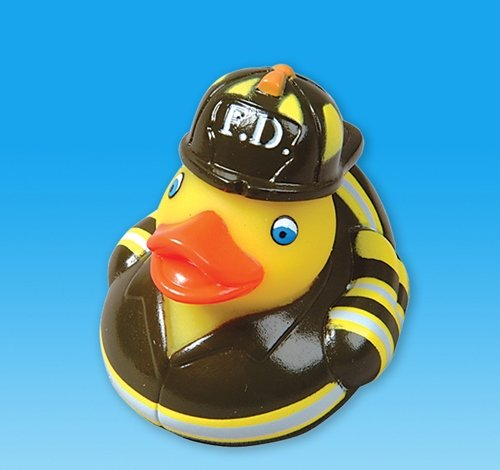 "Rhode Island Novelty 2"" Fire Fighter Ruber Duck (12 Piece) - 1"