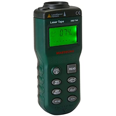 Digital Ultrasonic Tape Measure Distance Meter with Laser Pointer