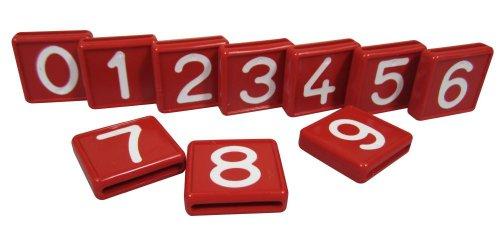 Nummernblock, 1-stell., rot m. weißer Nummer Nr. 8