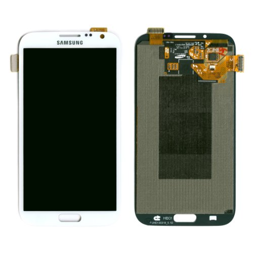 Samsung Galaxy Note II Note 2 Digitizer LCD Touch Screen Replacement Assembly / White