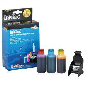 InkTec Refill Kit for HP 75 and 75XL Inkjet Cartridges HPI-5075C