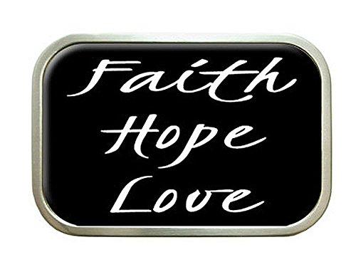 Faith Hope Love Belt Buckle