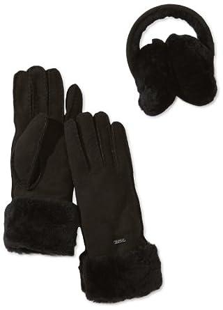 Emu Australia Women's Penneshaw Gift Set Gloves, Black, one size (M/L)