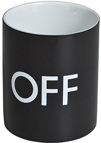 VENKON - Tazza sensibile al calore / Tazza Interattiva / Tazza termosensibile - design: On / Off - per caffè, tè, cacao, latte, acqua, ecc. - 0.3l