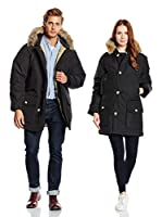Woolrich Plumas Arctic Parka Down Filled W Fur Hoood (Negro)