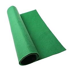 Emours Moisturizing Reptile Carpet Fiber Pet Mat,Green ,Large