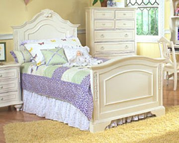 violet girls twin or full youth bedroom furniture collection violet twin or full panel bed - Jessica Mcclintock Bedroom Furniture