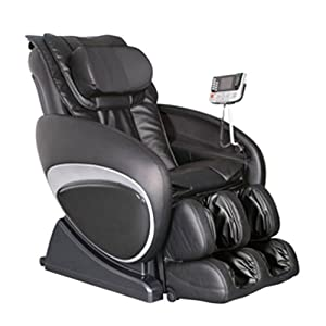 Cozzia 16027 Zero Gravity Shiatsu Massage Chair - Black