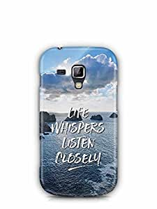 YuBingo Life Whispers. Listen Carefully Designer Mobile Case Back Cover for Samsung Galaxy S Duos 2