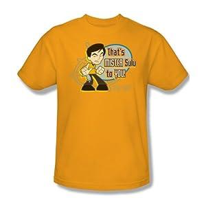Star Trek Quogs Cartoon CBS TV Series Mr Sulu To You Adult Mens T-Shirt Tee