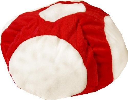 [Super Mario Brothers Toad Plush Hat] (Super Mario Bros Baby Costumes)