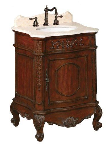 Belle Foret BF80071R Petite Single Basin Bathroom Vanity, Dark Cherry