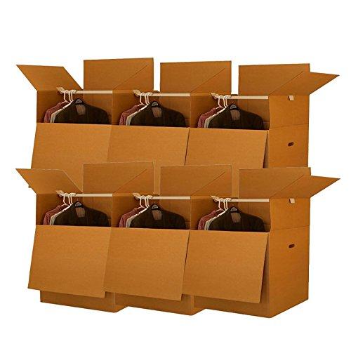 Shorty Space Saving Wardrobe Moving Boxes (Bundle of 6) 20