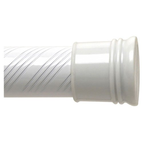 Zenna Home 804WW, Tension Swirl Shower Curtain Rod, 43 to 72-Inch, White (Spring Rod Shower compare prices)