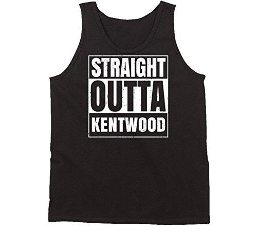Straight Outta Kentwood Michigan Parody Grunge City Tanktop S Black (City Of Kentwood Michigan)