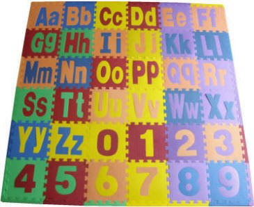 Cheap Get Rung Alphabet and Number, A-Z + 0-9, 12″ Interlocking Foam Mats with Borders, 36 SQ FT (B001DRMGOM)
