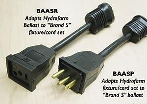 HYDROFARM BAASR Ballast Receptacle Adapter Cord Brand S