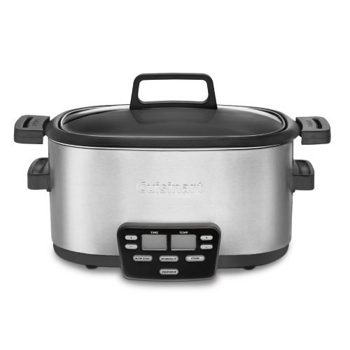 Digital Slow Cookers: Cuisinart MSC-600 3-In-1 Cook Central Multi-Cooker: Slow Cooker, Brown/Saute, Steamer