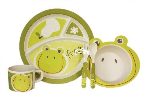 Bamboo Fiber Funny Kids Set Frog Prince Bpa Free, Non-Toxic [Free Baby Meal Organic Supplement]