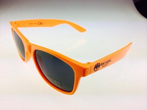 Wayfarer Vintage Hipster Nerd Brille mit knalligen Faben 5 FArben BACARDI (ORANGE)