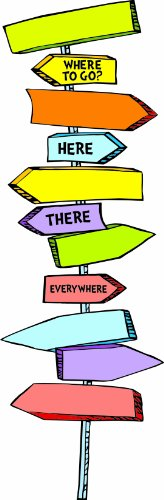Blank Directional Signs Mini