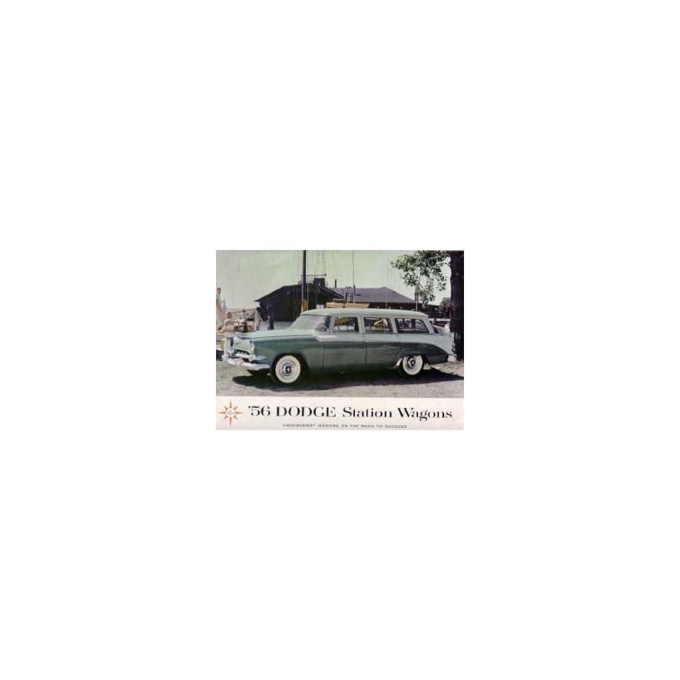 1956 Dodge Station Wagon Sales Brochure Literature Book Advertisement Options