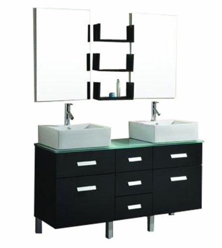 Info Bathroom Vanity Cabinet And Sink Virtu Usa Um 3063 G Es Maybell 57 Inch Double Sink