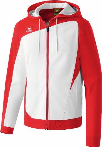erima, Giacca da allenamento Uomo Club 1900 con cappuccio, Bianco (weiß/rot), xxl/xxxl