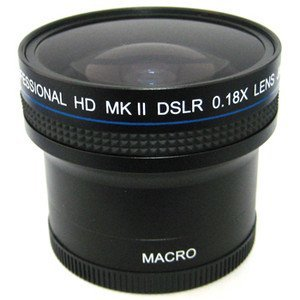 0.18x Wide Angle Fisheye Lens With Macro lens For The Nikon Coolpix P5000 P5100, Digital Camera Tube Adapter Included