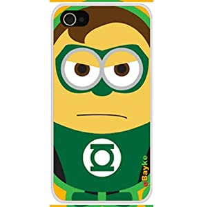 eBayke® DCM-30 Apple iPhone 4S iPhone4 Funny Cartoon Movie Despicable Me Cute Minions Minion as Hal Jordan Green Lantern Pattern Snap-on Protective Skin Case Cover
