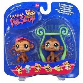 Buy Low Price Hasbro Littlest Pet Shop Pet Pairs – Fun Jungle Gym – 2 Monkeys Figure (B000E1Z7PI)