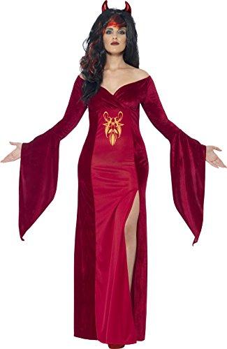 Smiffy's 44337X3 - Curve Devil Costume Rosso con Dress & Horns, X