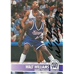 Walt Williams Autographed Hand Signed Basketball Card (Sacramento Kings) 1994 Hoops... by Hall of Fame Memorabilia