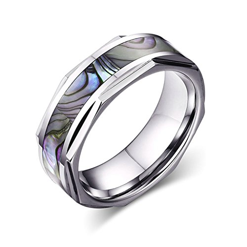 Xiangling-Jewelry-8MM-Comfort-Fit-Tungsten-Carbide-Ring-Wedding-Band-Engagement-Ring-with-Abalone-Shell-Inlay-with-Beveled-Edges