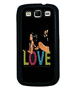 Fuson Love Girl Back Case Cover for SAMSUNG GALAXY S3 - D3673