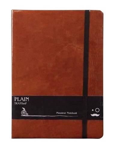 Monsieur Notebook Leather Journal - Tan Sketch Medium A5