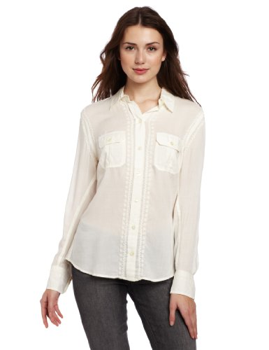 Lucky Brand Women's Jane French Knot Blouse
