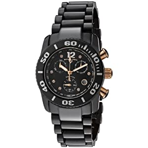 Swiss Legend Women's 10128-BKBD-RA Commander Chronograph Black Dial Watch