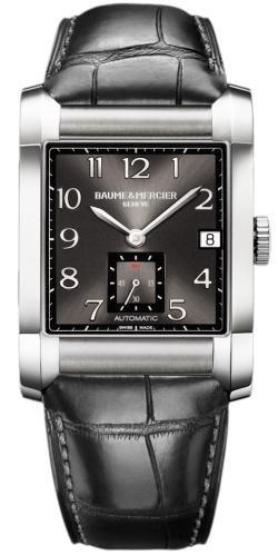 Baume Mercier Men's 10027 Hampton Mens Black Leather Strap Automatic Watch