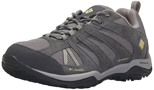 Columbia Women's Dakota Drifter Waterproof Trail Shoe, Light Grey/Sunnyside, 8.5 B US
