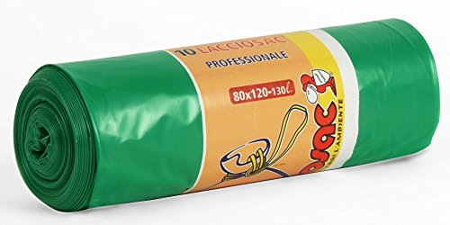 VIROSAC Sacchi 80x120 pesanti verdi * 10 pz. - Sacchi immondizia