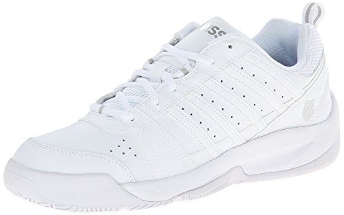 K-Swiss Men's Vendy II Everyday Tennis Shoe, White/Silver, 9.5 M US