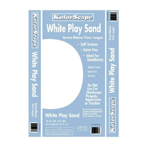 Oldcastle Kolorscape 40105130-RDC06 White Play Sand, 0.4 Cubic Feet