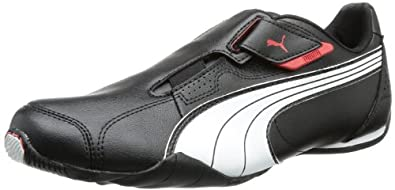 Puma Redon Move, Unisex-Erwachsene Sneakers, Schwarz (black-white-high risk red 02), 36 EU (3.5 Erwachsene UK)