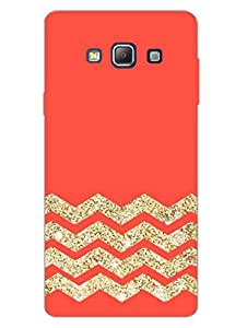 Zigzag - Abstract Pattern - Hard Back Case Cover for Samsung A7 - Superior Matte Finish - HD Printed Cases and Covers